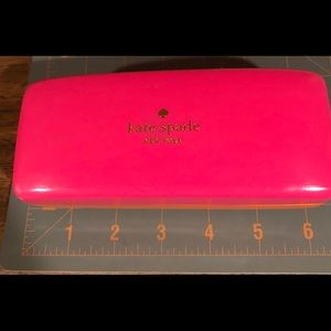 kate spade Accessories - Kate Spade glasses case in vibrant orange and pink